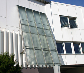 Office building glass facade in Langenfeld, Germany